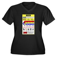 Beer Hazardous Material Women's Plus Size V-Neck D