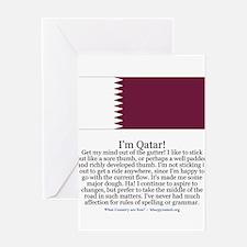 Qatar Greeting Card