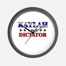 KAYLAH for dictator Wall Clock
