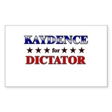 KAYDENCE for dictator Rectangle Decal
