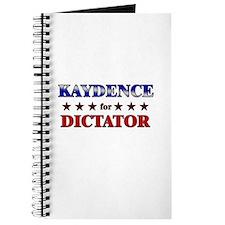 KAYDENCE for dictator Journal