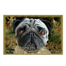 Pug Christmas Postcards (Package of 8)
