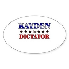 KAYDEN for dictator Oval Decal
