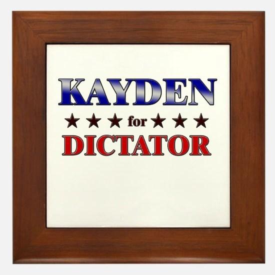 KAYDEN for dictator Framed Tile