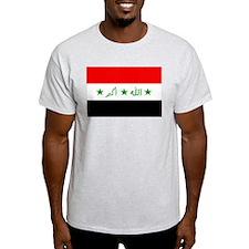 Iraqi Flag Ash Grey T-Shirt