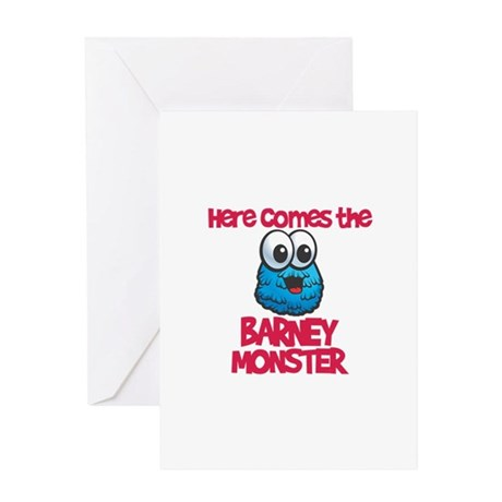 Barney Monster Greeting Card