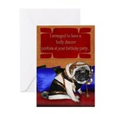 Pug birthday Greeting Cards