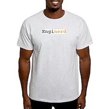 Enginerd in Orange Ash Grey T-Shirt