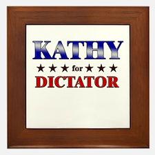 KATHY for dictator Framed Tile
