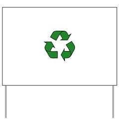 Recycle Symbol Yard Sign