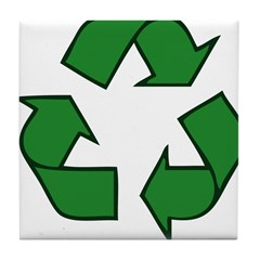 Recycle Symbol Tile Coaster