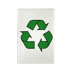 Recycle Symbol Rectangle Magnet