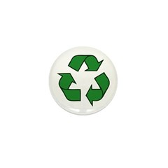 Recycle Symbol Mini Button (10 pack)