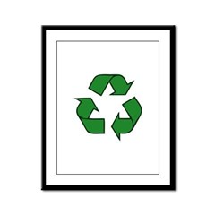 Recycle Symbol Framed Panel Print