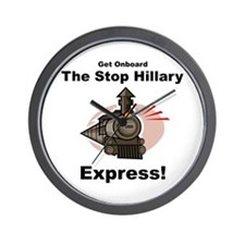 The Stop Hillary Clinton Express Wall Clock