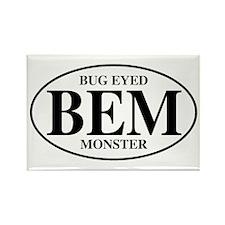 Bug Eyed Monster Rectangle Magnet