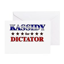 KASSIDY for dictator Greeting Cards (Pk of 10)