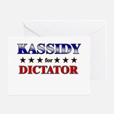 KASSIDY for dictator Greeting Card