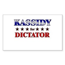 KASSIDY for dictator Rectangle Decal