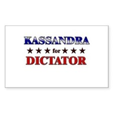 KASSANDRA for dictator Rectangle Decal
