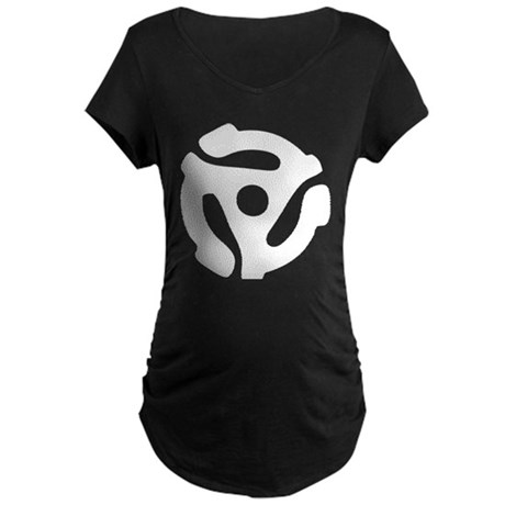 45 RPM Adapter Maternity Dark T-Shirt