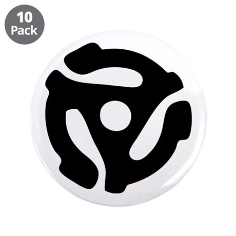 """45 RPM Adapter 3.5"""" Button (10 pack)"""