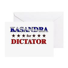 KASANDRA for dictator Greeting Card