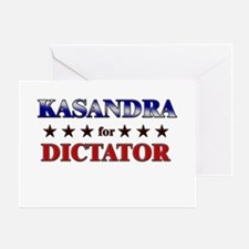 KASANDRA for dictator Greeting Card