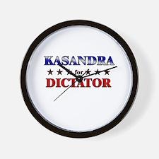 KASANDRA for dictator Wall Clock