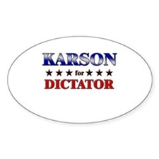 KARSON for dictator Oval Decal