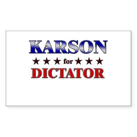 KARSON for dictator Rectangle Sticker