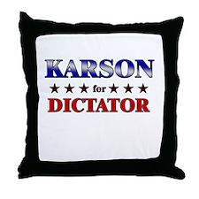 KARSON for dictator Throw Pillow