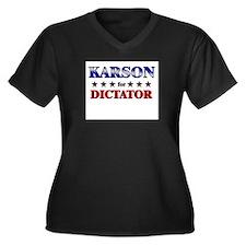 KARSON for dictator Women's Plus Size V-Neck Dark
