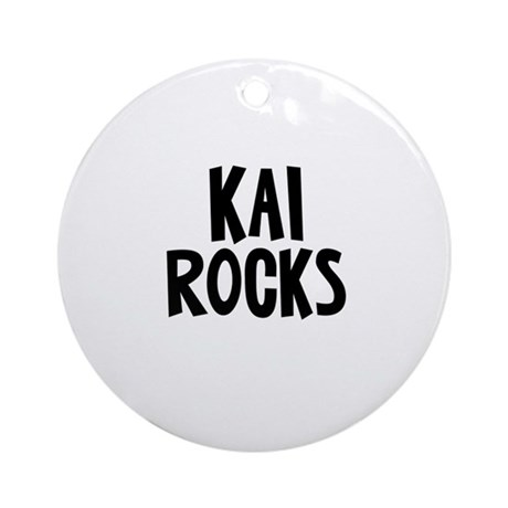 Kai Rocks Ornament (Round)