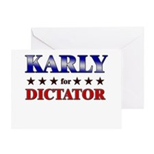 KARLY for dictator Greeting Card