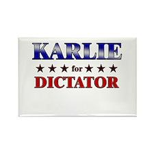 KARLIE for dictator Rectangle Magnet