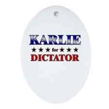 KARLIE for dictator Oval Ornament
