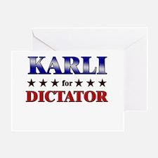 KARLI for dictator Greeting Card