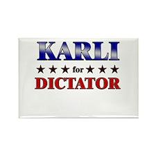 KARLI for dictator Rectangle Magnet