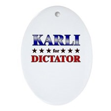 KARLI for dictator Oval Ornament