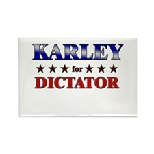 KARLEY for dictator Rectangle Magnet