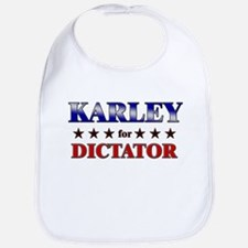 KARLEY for dictator Bib