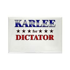 KARLEE for dictator Rectangle Magnet