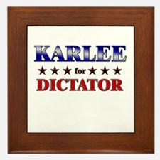 KARLEE for dictator Framed Tile