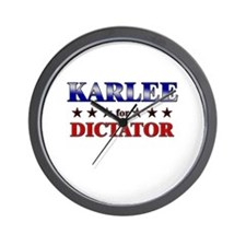 KARLEE for dictator Wall Clock