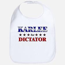 KARLEE for dictator Bib