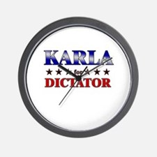 KARLA for dictator Wall Clock
