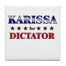 KARISSA for dictator Tile Coaster