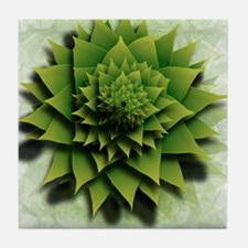 Fractal Succulent Tile Coaster