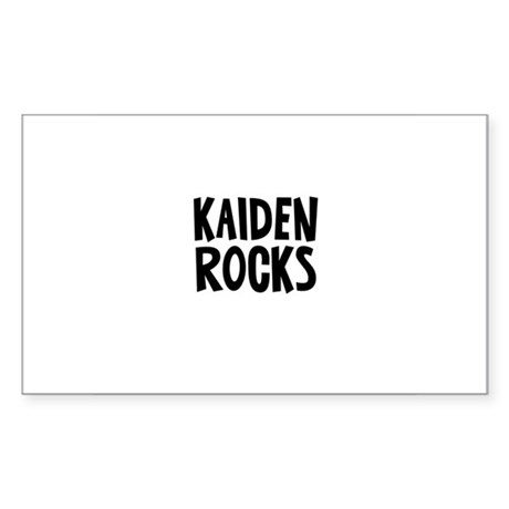 Kaiden Rocks Rectangle Sticker
